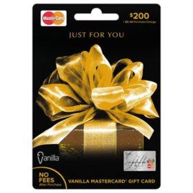 Vanilla MasterCard Gift Card - Various Amounts