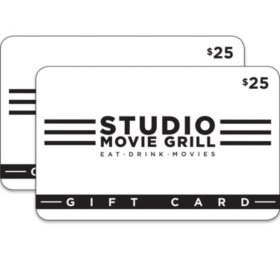 Studio Movie Grill $50 Value Gift Cards - 2 x $25