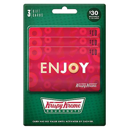 Krispy Kreme $30 Value Gift Cards - 3 x $10
