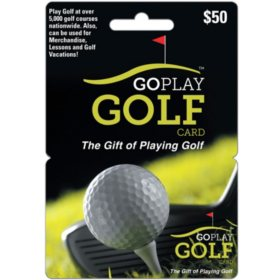 Go Play Golf $50 Gift Card