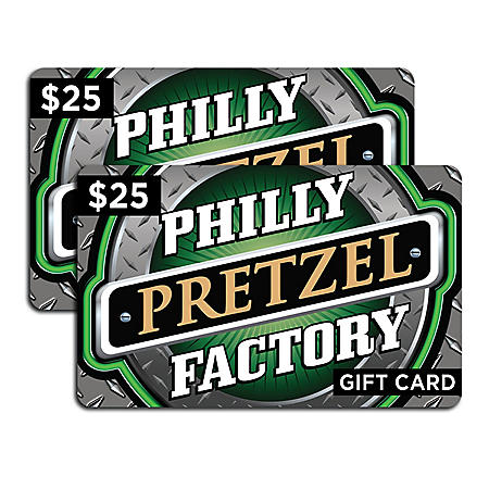 Philly Pretzel Factory $50 Value Gift Cards - 2 x $25