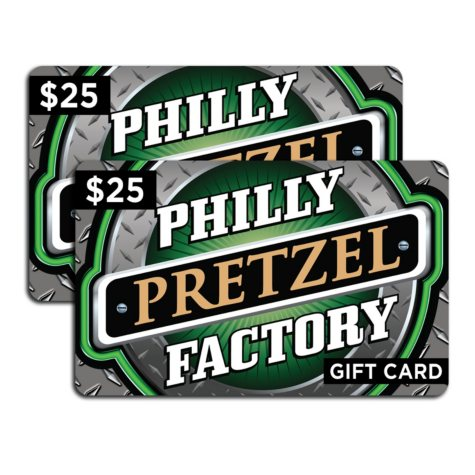 Philly Pretzel Factory Gift Card - 2 x $25
