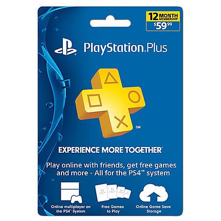Sony PlayStation Plus 12 Month Card - $59 99 Value - Sam's Club