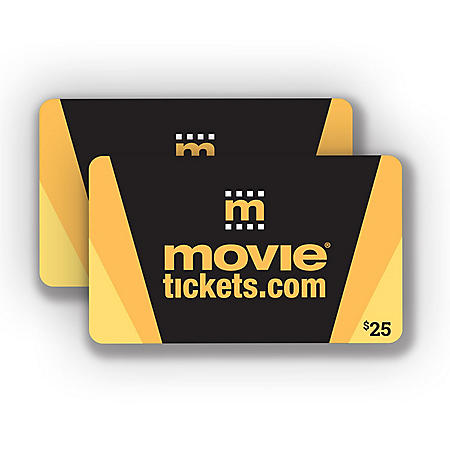 MovieTickets.com $50 Value Gift Cards - 2 x $25