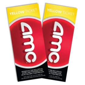 AMC - 2 Yellow Tickets
