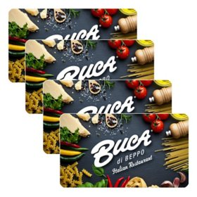 Buca Di Beppo $100 Value Gift Cards  - 4 x $25