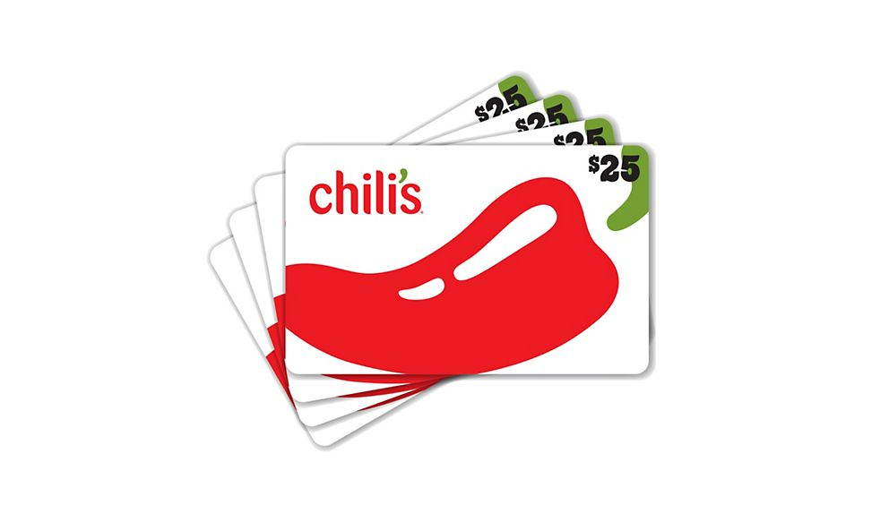 $100 (4 x $25) Chili's Value Gift Cards
