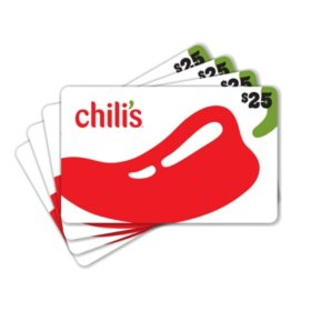 Chili's $100 Value Gift Cards - 4 x $25