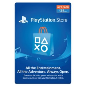 Sony PlayStation Gift Card (Various Amounts)