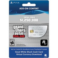 Grand Theft Auto V: Great White Shark Cash Card (PlayStation 4) - Digital Code (Email Delivery)