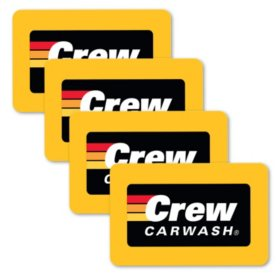 Crew Carwash $100 Gift Card - 4/$25