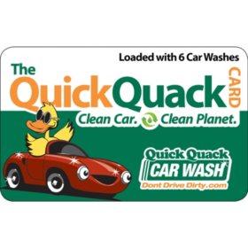 Quick Quack Car Wash $78 Value - 6 Shine Wash Packages