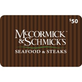 McCormick & Schmick's $120 Value Gift Cards - 2 x $50 with a Bonus $20 Card