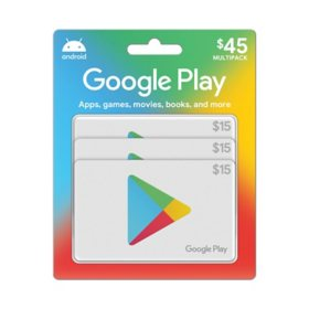 Google Play Gift Cards - 3 x $15