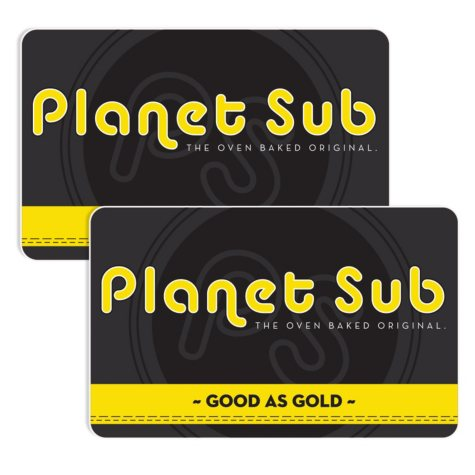 Planet Sub - Corporate 2 x $25 for $40