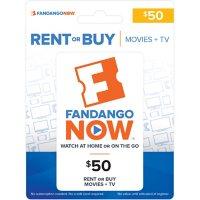 FandangoNOW $50 Gift Card