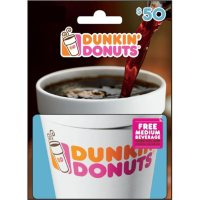 Dunkin Donuts $50 Value Gift Card