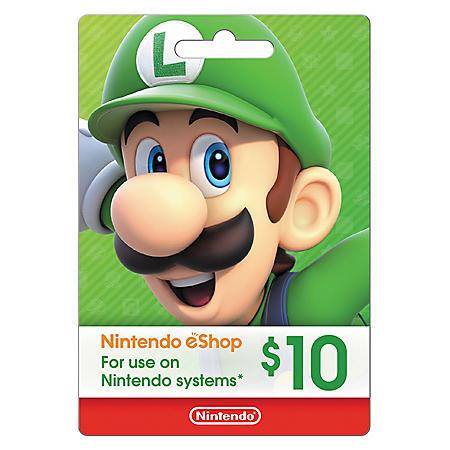 Nintendo Gift Card - Various Values