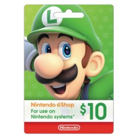 Nintendo Gift Card - Various Values