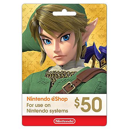 Nintendo $50 Gift Card