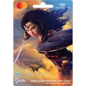$50 Wonder Woman Vanilla Mastercard Gift Card