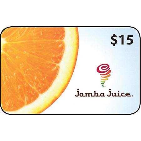 Jamba Juice $55 Value Gift Cards - 3 x $15 Plus $10 Card