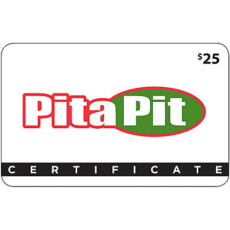 Pita Pit - Southeast $50 Value Gift Cards - 2 x $25
