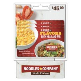 Noodles World Kitchen $45 Value Gift Cards - 3 x $15