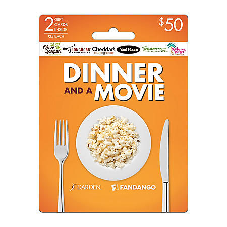 Darden Fandango Dinner and a Movie Gift Cards - 2 x $25