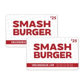 Smashburger $50 Value Gift Cards - 2 x $25