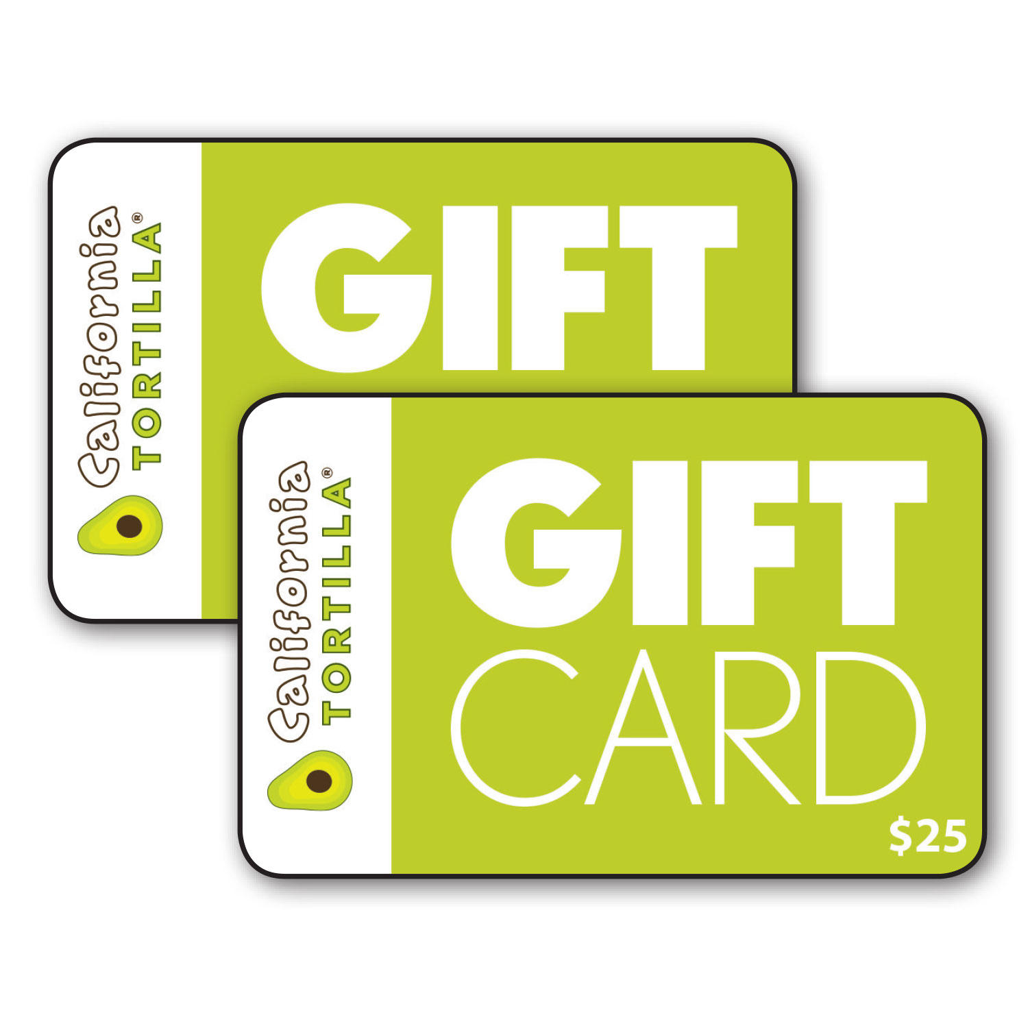 $50 (2 x $25) California Tortilla Gift Cards