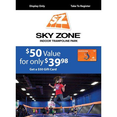 Sam's Club Sky Zone Gift Card Promotion