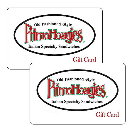 Primohoagies $50 Value Gift Cards - 2 x $25