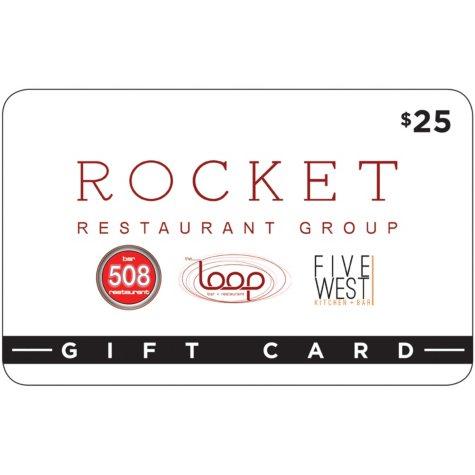 Rocket Restaurant Group Gift Card - 2 x $25