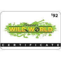 $92 Branson's Wild World & Wild Valley Adventure Gift Card