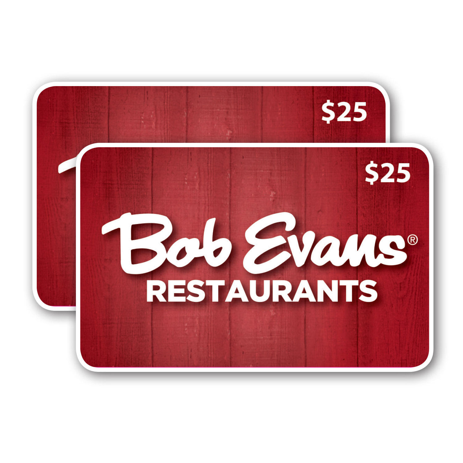 2 x $25 Bob Evans Value Gift Cards