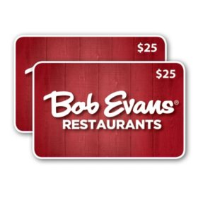 Bob Evans $50 Value Gift Cards - 2 x $25