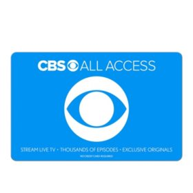 CBS All Access eGift Card - Various Amounts (Email Delivery)