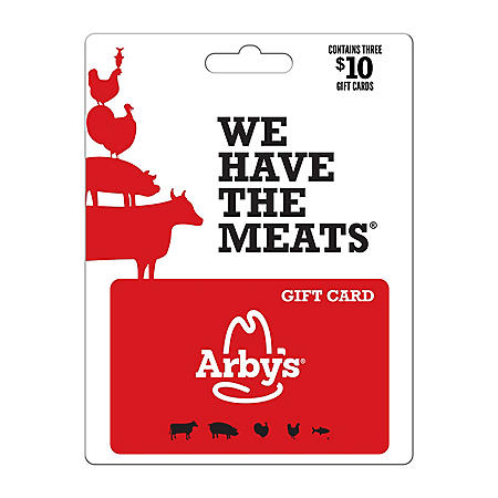 Arby's $30 Value Gift Cards - 3 x $10