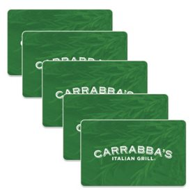 Carrabba's Italian Grill $125 Value Gift Cards - 5 X $25
