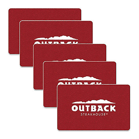 Outback Steakhouse $125 Value Gift Cards - 5 X $25
