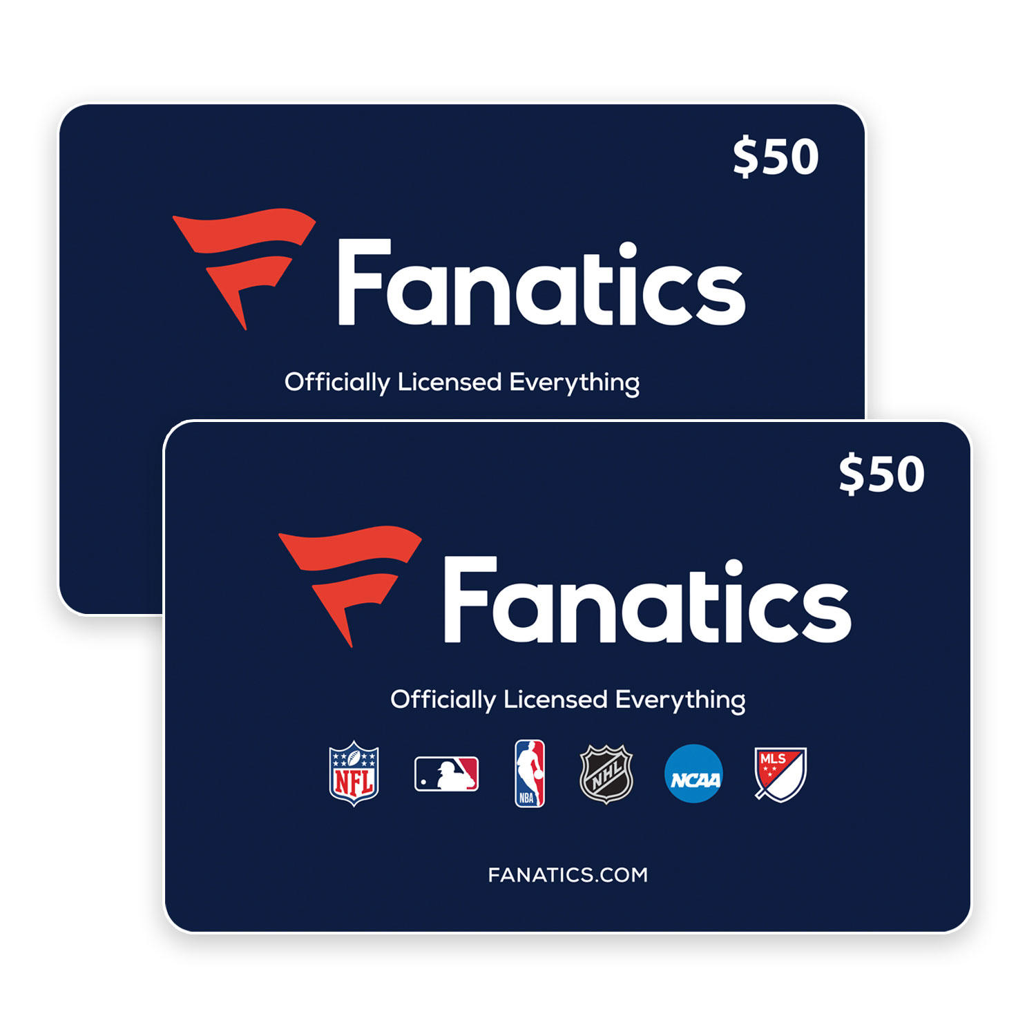 $100 (2 x $50) Fanatics Gift Cards