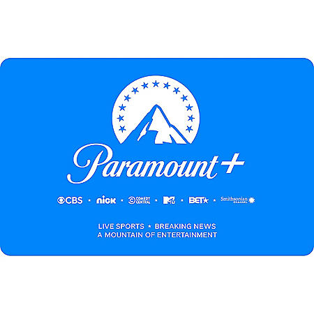 CBSi Paramount Plus eGift Card - Various Amounts (Email delivery)