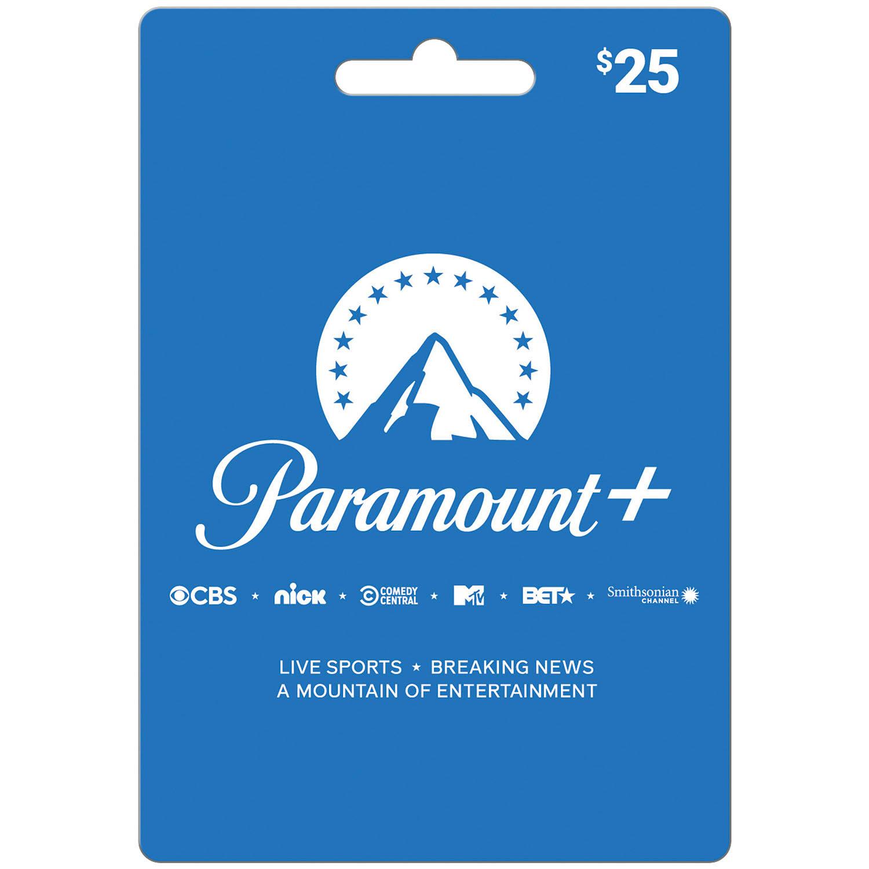 CBSi Paramount Plus $25 Value Gift Card