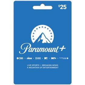 CBSi Paramount Plus $25 Value Card