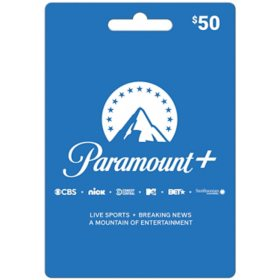 CBSi Paramount Plus $50 Value Card
