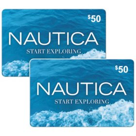 Nautica $100 Value Gift Cards - 2 x $50