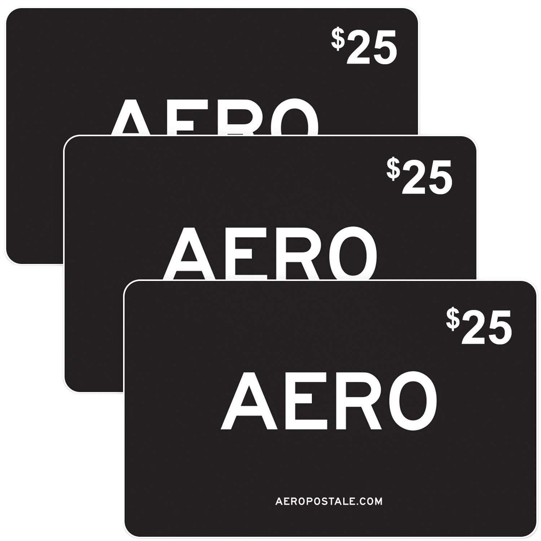 $75 (3 X $25) Aeropostale Gift Cards