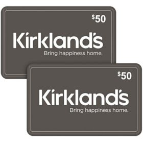 Kirkland's $100 Value Gift Cards - 2 x $50