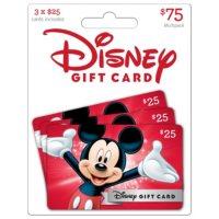 Disney $75 Gift Cards - 3 x $25